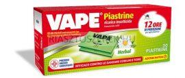 VAPE Herbál szúnyogirtó lapka 30db/csomag