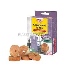 Zero In cédrusfa molyriasztó gyűrűk 10db / csomag