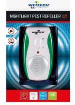 Weitech elektromos ultrahangos kártevő elriasztó 90m2