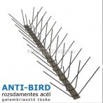 Anti-Bird 4 soros rozsdamentes acél galambriasztó tüske 50cm