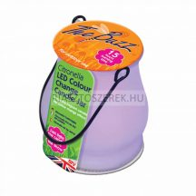 The Buzz citronellás gyertya üvegedényben LED világítással