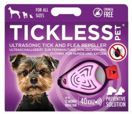 Tickless PET Pink ultrahangos kullancs és bolhariasztó kutyák és macskák számára