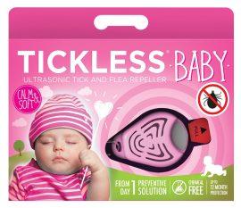 Tickless BABY Pink hordozható kullancsriasztó készülék babák számára